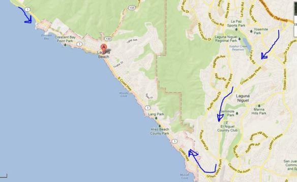 Alternate Routes Into Laguna Beach